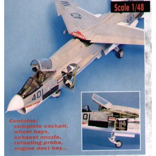 Vought F-8E Crusader detail set (diseñado para ser ensamblado con maquetas de Hasegawa)