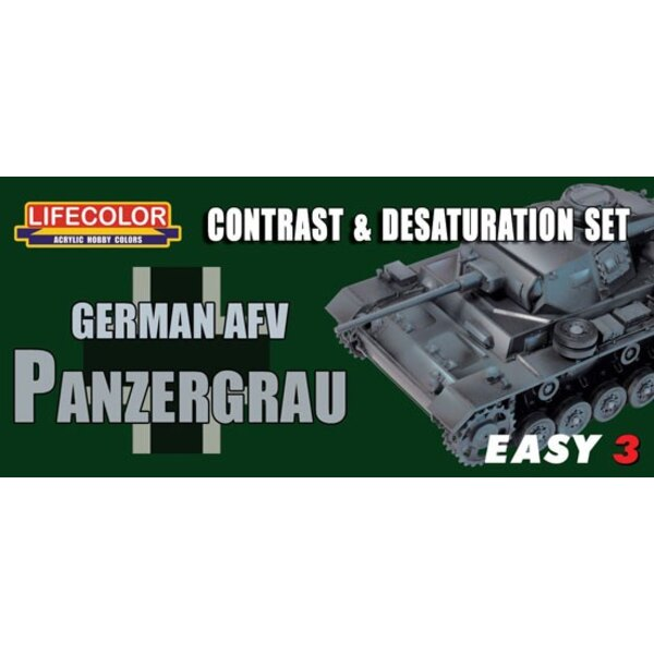 3 Fácil alemán AFV Panzergrau