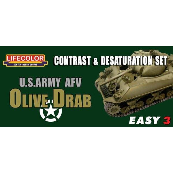Fácil 3 Ejército de EE.UU. de color gris oliva