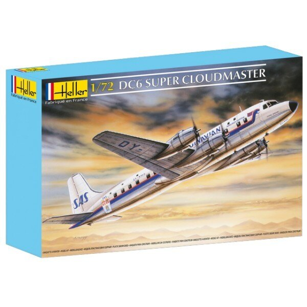 Douglas DC-6B Super Cloudmaster. Decals Scandinavian and UTA