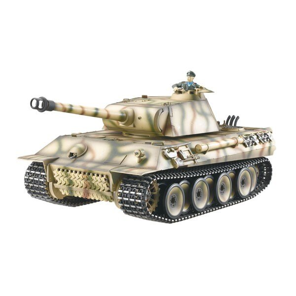 RC2.4GHZ CHAR 1/16 GERMAN PANTHER METAL (SOUND / HUMO)