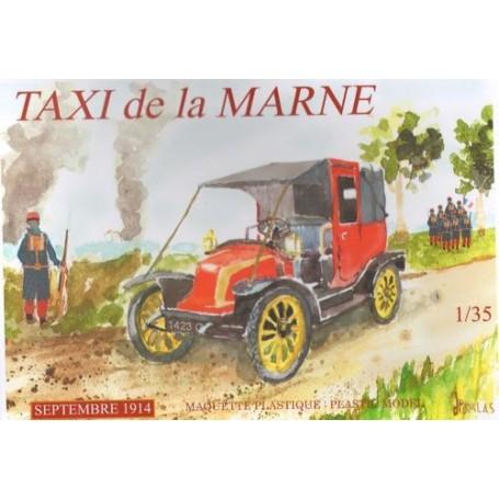 Taxi De La Marne.Septiembre 1914. 600 de éstos eran los taxis de París Renault requisados para transportar tropas en el año d
