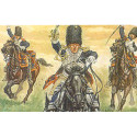 napoleonic french horse grenadiers. 12 mounted figures with bearskins.