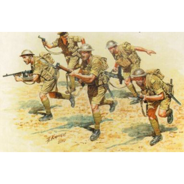 British Infantry in action Northern Africa WW II era