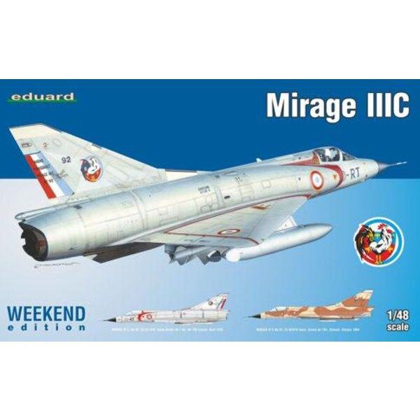 Plástico Dassault Mirage IIIC Eduard, etiquetas impresas por Eduard, 2 opciones de marcado.NO PE, NO máscara, NO resina incluid