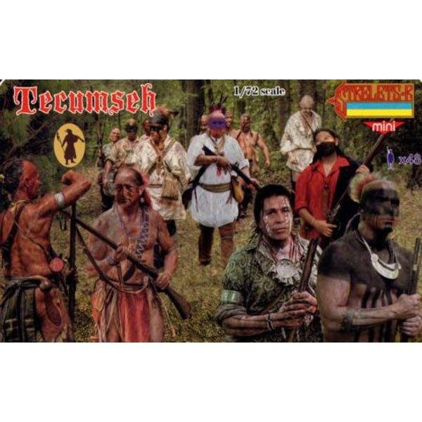 Tecumseh 1812. Tecumseh era un nativo líder estadounidense del Shawnee y una gran confederación tribal que se oponía a los Estad
