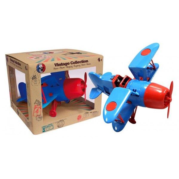 Biplano azul / rojo