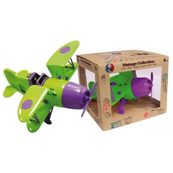 Biplano verde / púrpura