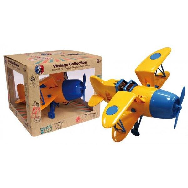 Biplano amarillo / azul