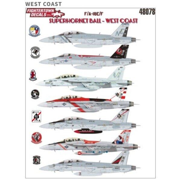 ¡De nuevo en existencia!Boeing F / A-18E / F superhornet BOLA DEL OESTE COASTF / A-18E / F Superhornet Ball - Costa Oeste.Toda