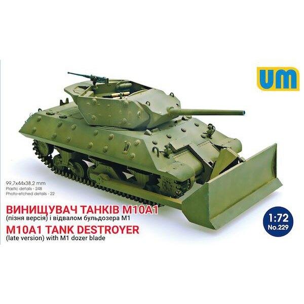 destructor del tanque M10A1 (versión tardía) con M1 hoja topadora