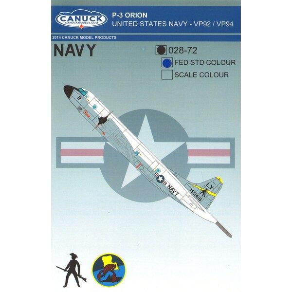 USN Lockheed P-3C Orion (FEDERAL STTANDARD) United States Navy P-3 Orion Diseñado para el kit de Hasegawa P3 Orion, este conjunt