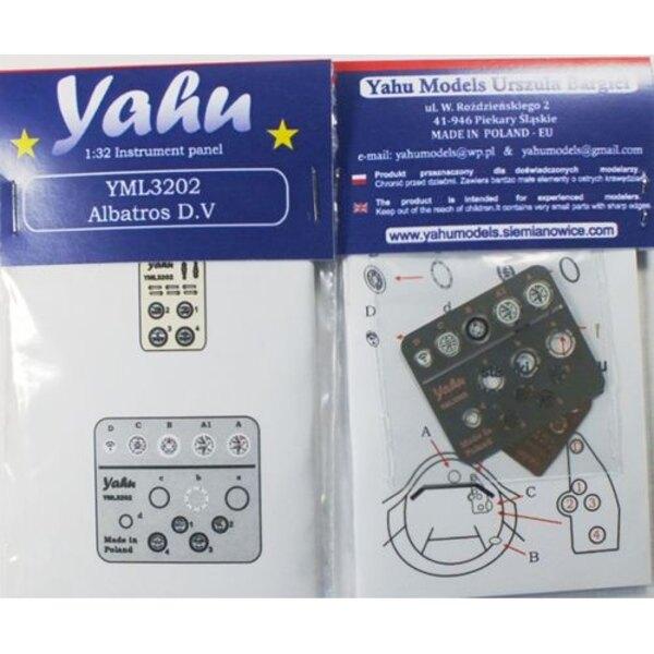 Albatros DV panel de instrumentos (diseñado para ser utilizado con los kits Wingnut Alas)
