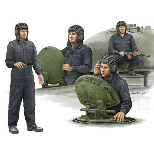 Moderna Soviética tripulación del tanque