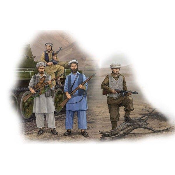Los rebeldes afganos x 4 cifras, 12 fusiles