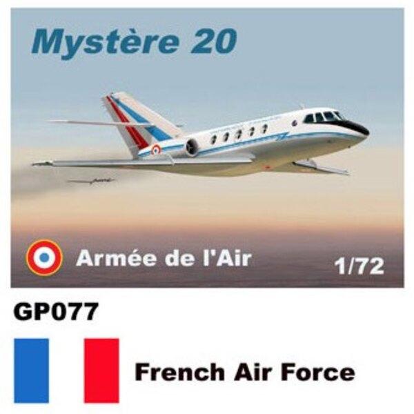 Fuerza Dassault Mystere-20 Falcon Adhesivos Armée de l'Air francesa Air