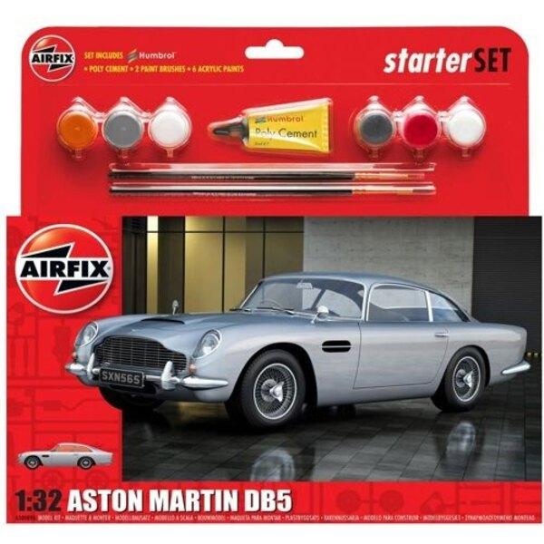 Aston Martin DB5 de plata con 6 pintura acrílica y adhesivo y 2 pinceles