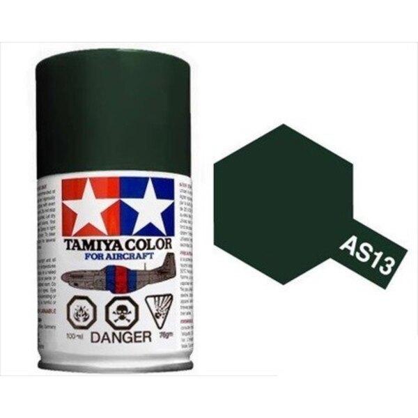 Tamiya AS-13 verde oscuro guerra de Vietnam del aire del USAF spray 100ml (x2pc)