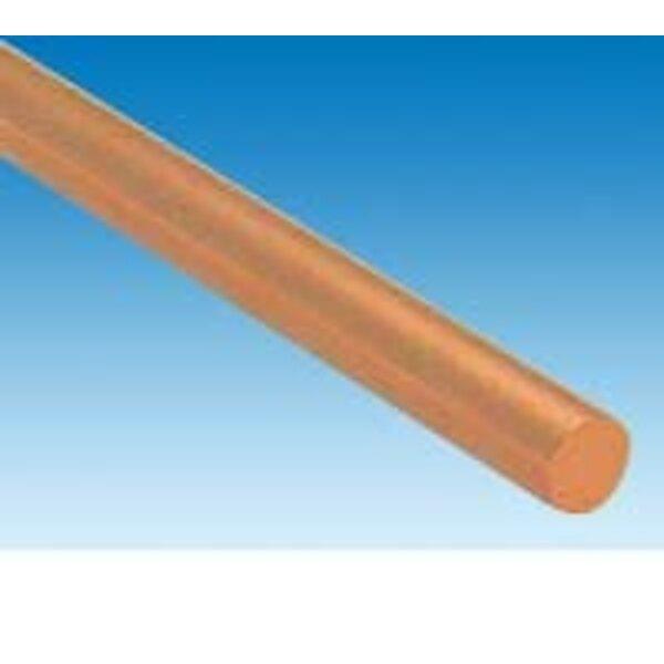 cobre de diámetro varilla.2 mm x 1 m