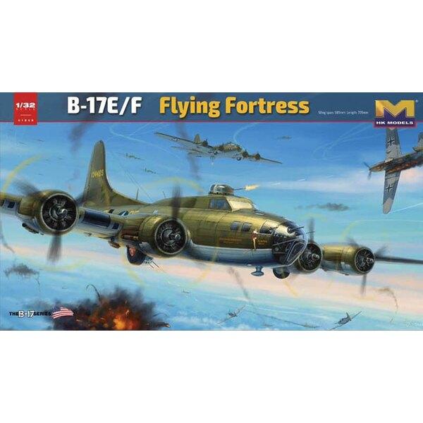 Boeing B-17E / F fortaleza del vuelo.